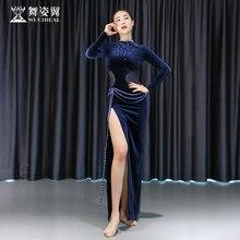 Woman Belly Dance Performance Costume velvet Long dress Orie