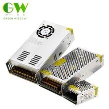 12 فولت امدادات الطاقة التبديل محولات الإضاءة التيار المتناوب 110 فولت 220 فولت إلى تيار مستمر 12 فولت 10A 20A 30A 50A LED سائق مصدر محول لشريط LED.