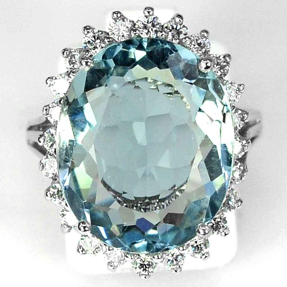 Trendy Blue Cubic Zirconแหวนแฟชั่นแหวนหินสำหรับผู้หญิงหมั้นของขวัญของขวัญL3K135