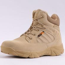 Nowe męskie buty zimowe pustynne taktyczne buty wojskowe zamszowe kostki buty wojskowe mężczyźni wodoodporne buty zimowe ciepłe buty na śnieg skóra tanie tanio yuxiang Desert Boots Sztuczny zamsz ANKLE Stałe Dla dorosłych Cotton Fabric Okrągły nosek RUBBER Zima Mieszkanie (≤1cm)