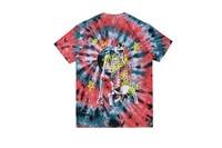 Travis Scott Astroworld Lollapalooza EUROPE tour Skull Print Tie dye T shirts tees Hiphop Streetwear Men Cotton T shirt