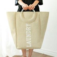 цены на Collapsible Laundry Basket Large Hamper Foldable Bag for dirty clothes Organizer laundry Bag toy storage basket в интернет-магазинах