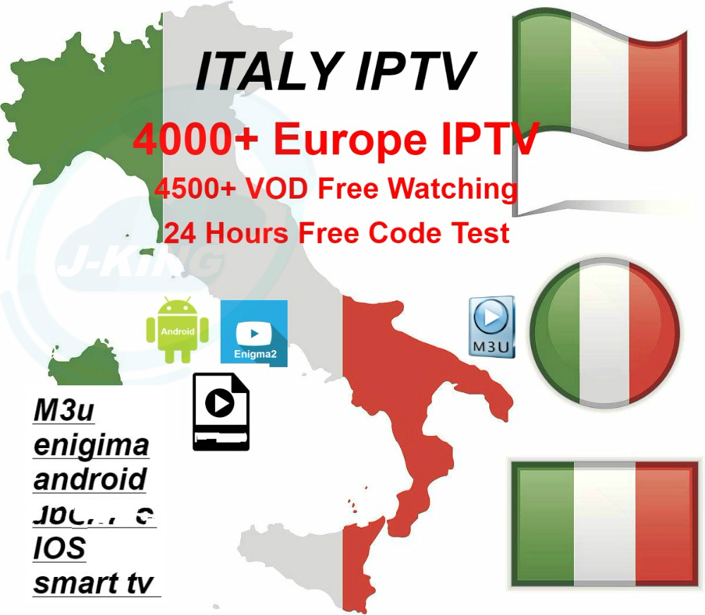 1 Year Italien/italy IPTV 3000+ Italy Vod Series And Europn Iptv Spain French IPTV Subscription Live Channel Free Vod Sports