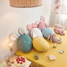 цена на Simanfei Soft Cotton Pillow Cute Rabbit Shape Kids Room Decoration Office Car Bed Living Room Cushion Children Toy Gifts