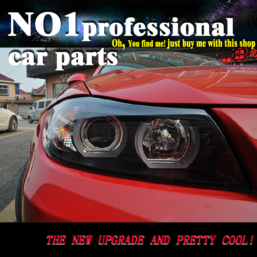 car accessori Headlights For <font><b>BMW</b></font> <font><b>E90</b></font> headlamp 318i 320i 325i Headlight LED Angel eyes <font><b>Front</b></font> <font><b>light</b></font> for 318 320 325 Bi Xenon Lens image