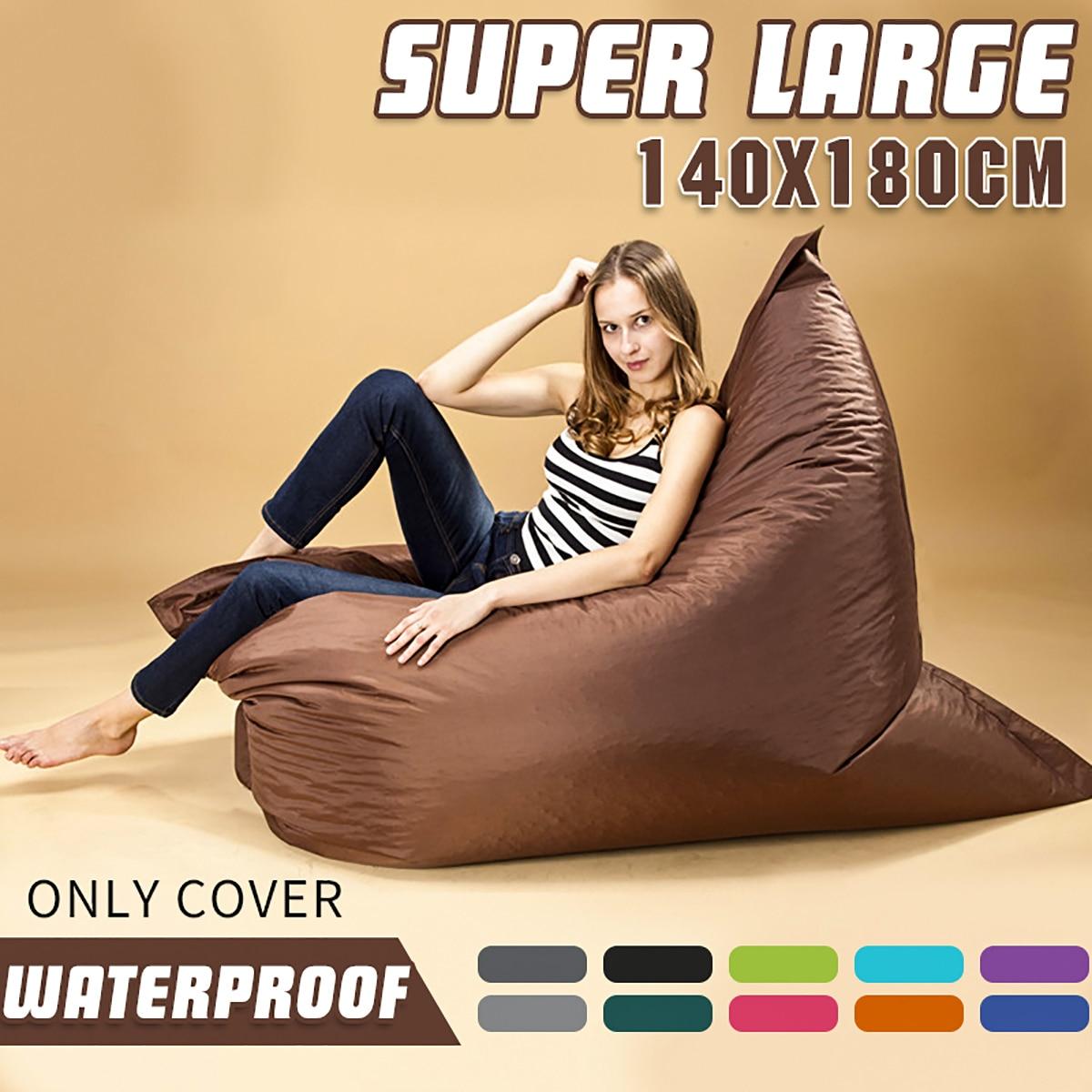 Pouf canapé chaise sac magique housses de siège Zac confort pouf housse de lit sans remplissage imperméable intérieur pouf chaise longue