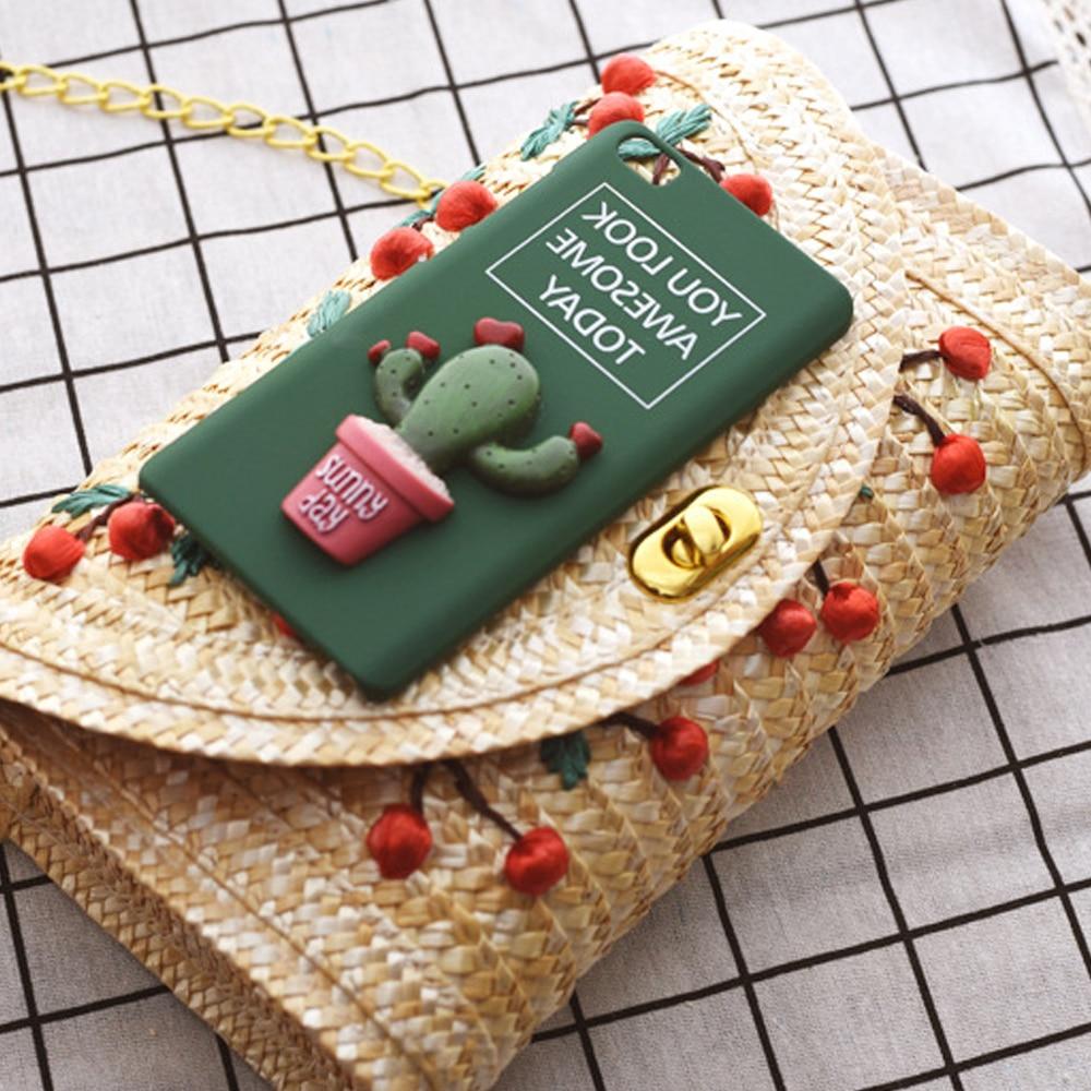 Hot Women Summer Mini Straw Beach Tote Messenger Crossbody Shoulder Bag Ptgirl Handbag bolsas sacos соломенная сумка clutch bag in Top Handle Bags from Luggage Bags