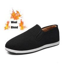 Laine mélangée Kung Fu chaussures hiver chaud tissu chaussures hommes femmes chinois Kung Fu aile Chun Tai Chi pantoufle Art Martial noir Sneaker