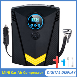 Car Air Compressor Pump 12V Electric Tire Inflatable Portable Auto Car Tire Inflator for Car Motorcycle LED Light Tire Pump