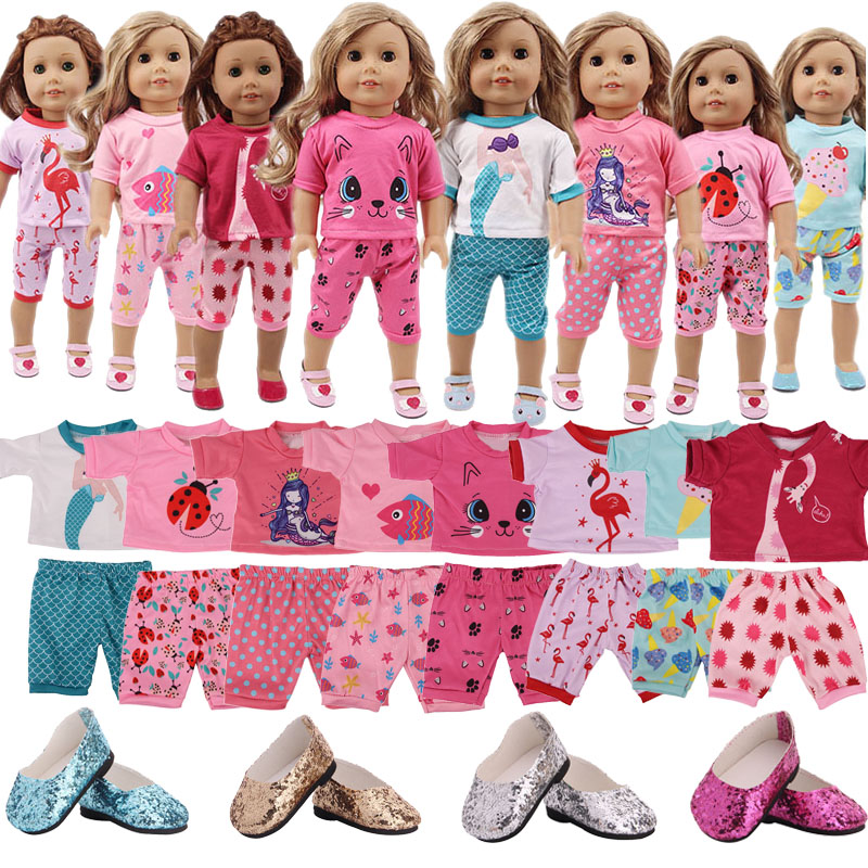 LUCKDOLL Handmade Cartoon Set Fit 18Inch American 43cmBabyDoll Clothes Accessories,Girls Toys,Generation,Birthday Gift