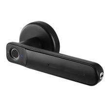 Poignée biométrique en alliage de Zinc, serrure de porte à empreintes digitales, facile à installer, pour maison, bureau, Port USB, famille avec clés, électrique intelligent