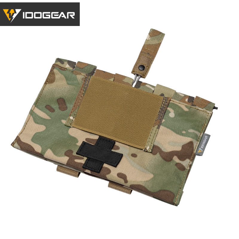 IDOGEAR Tactical First Aid Kit Pouch Medical Organizer Pouch MOLLE 9022B Medical Equipment 3548(China)
