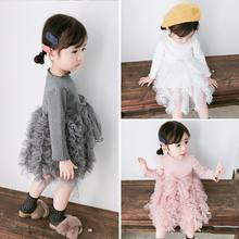 2019 Winter Baby Girls Dress Long Sleeve knitwear Sweater Birthday Party Princess Dresses Christmas Children Clothing 1 2 4 year(China)