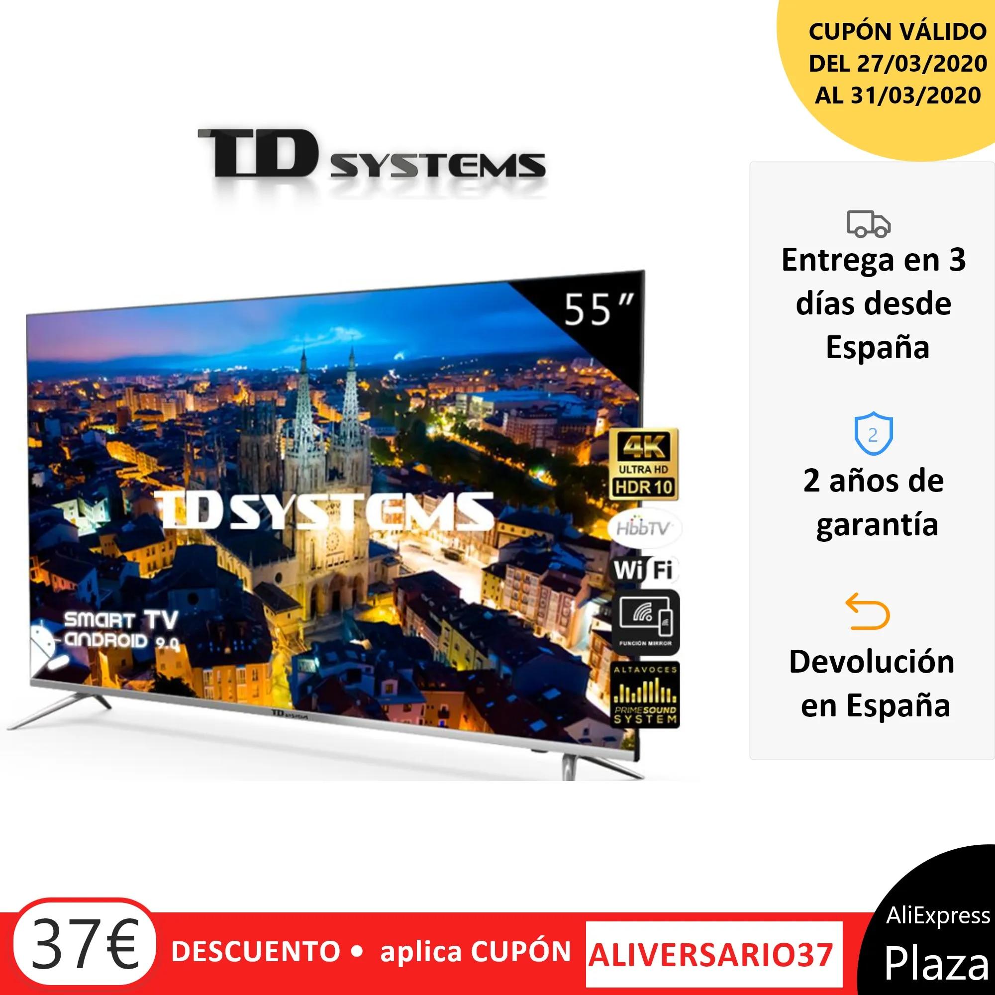 Televisores Smart TV 55 Pulgadas TD Systems