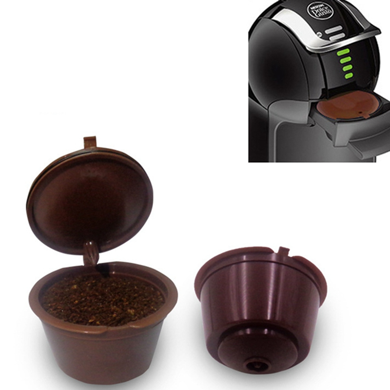 Food Grade Filling Coffee Capsules Gusto Coffee Capsule Refillable Reusable Compatible With Nescafe Dolce Refill