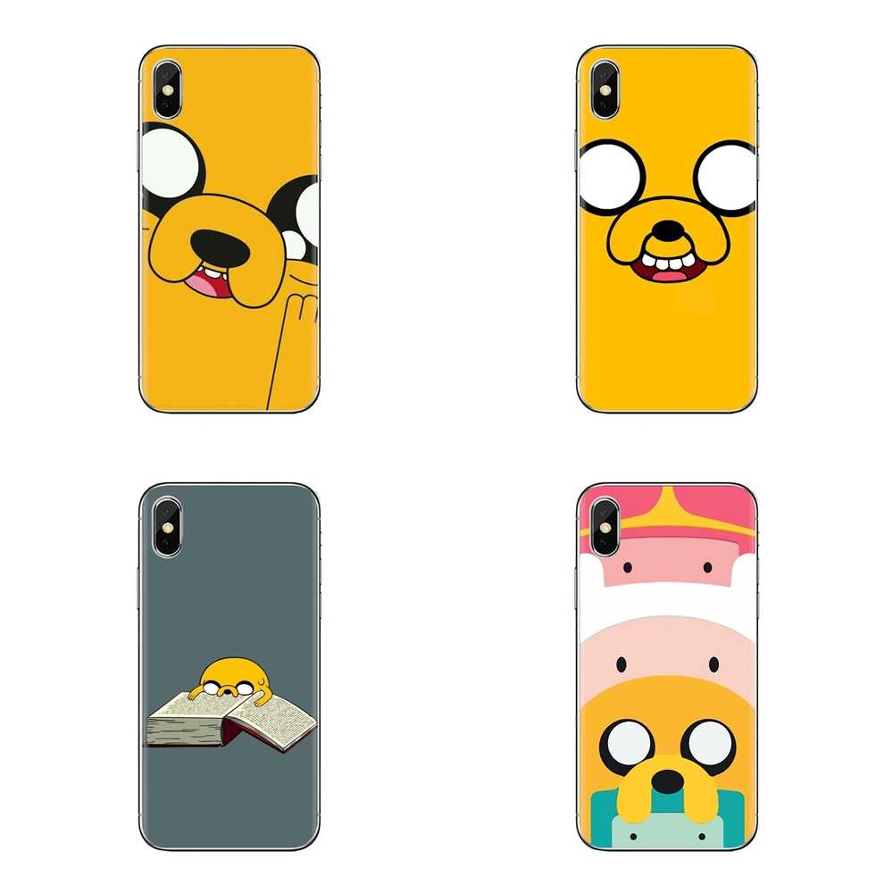 Voor iPod Touch Apple iPhone 4 4S 5 5S SE 5C 6 6S 7 8 X XR XS Plus MAX Zachte Transparante Gevallen Covers jake Finn hond adventure time