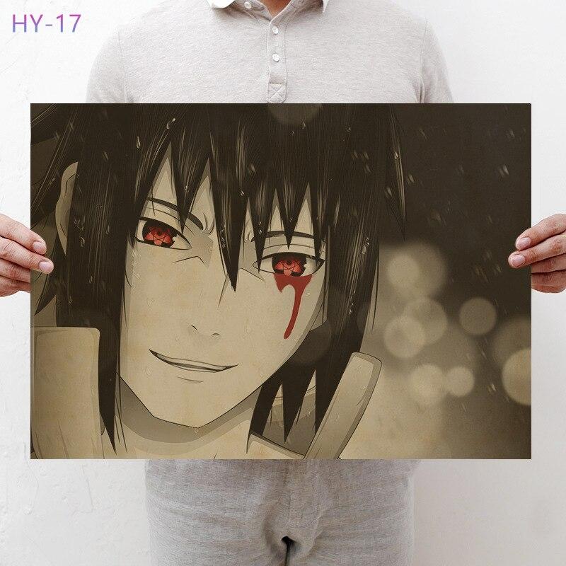 Постер Naruto Винтаж Классический Аниме Мультфильм крафт-бумага плакат живопись настенные наклейки домашние декоративные - Цвет: HY-17