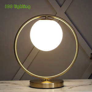 Round Oval Metal Table Lamp E1