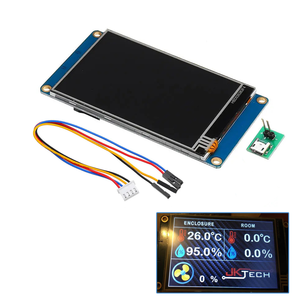 NX4832T035 3.5 Inch <font><b>480x320</b></font> HMI <font><b>TFT</b></font> LCD <font><b>Touch</b></font> Display Module Resistive <font><b>Touch</b></font> Screen For Raspberry Pi 3 Kit image