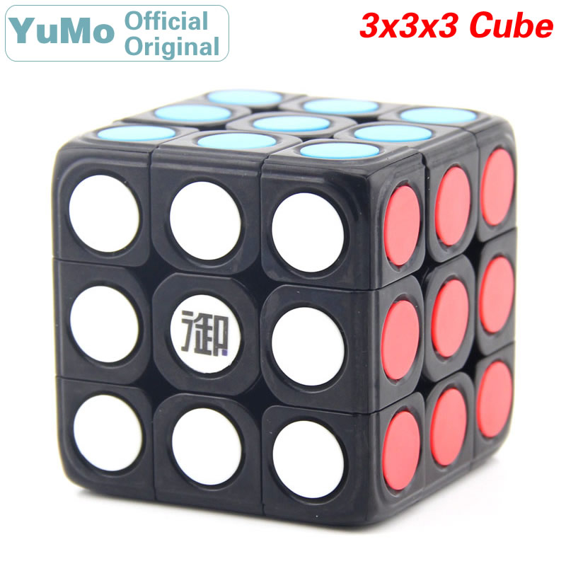 YuMo Circle Dot 3x3x3 Magic Cube 3x3 Speed Twisty Puzzle Brain Teasers Challenging Intelligence Educational Toys For Children