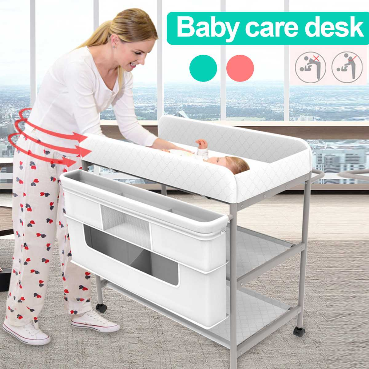 Folding Baby Changing Tables Kids Infant Baby  Diaper Changing Table Clothes Changing Desk Baby Crib/Bed/Cot Massage Care Table