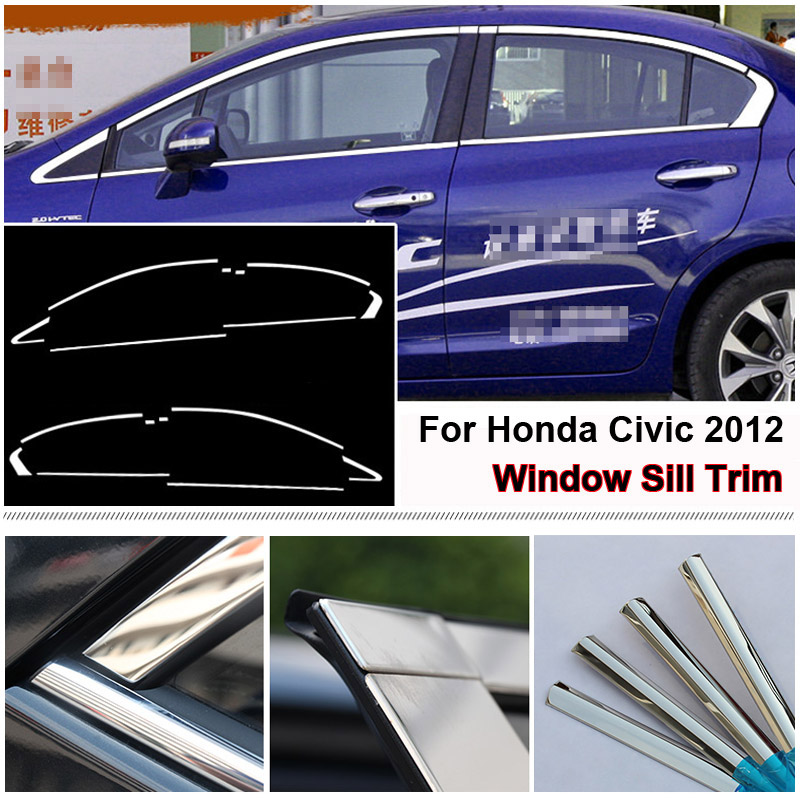 CHROME PILLAR POSTS FOR HONDA ODYSSEY 2018-2019 8 PIECE SET