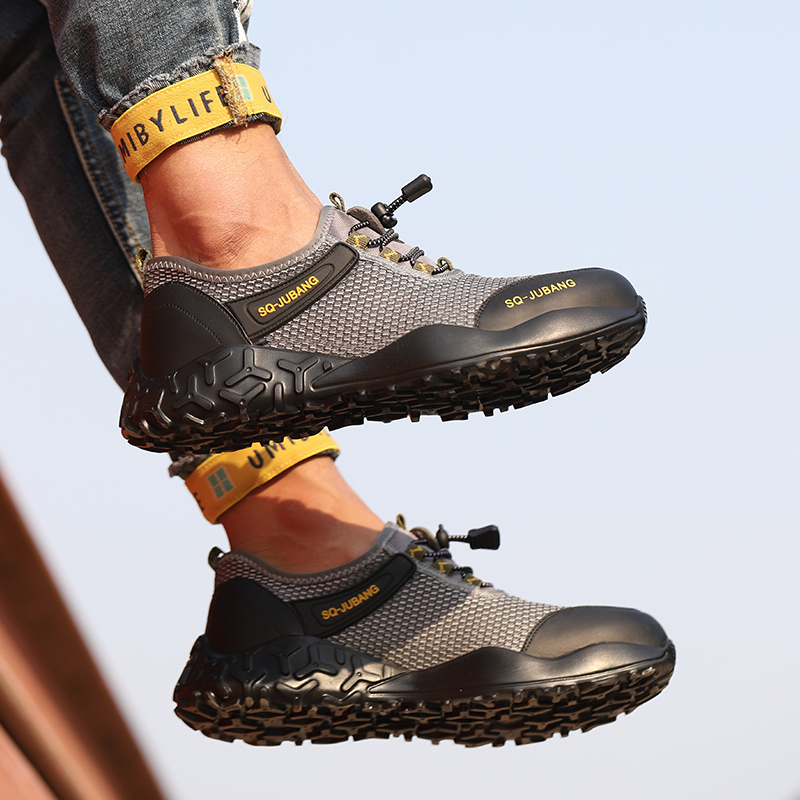 Men/'s Indestructible Safety Work steel Toe Shoes Lightweight Breathable Boots UK