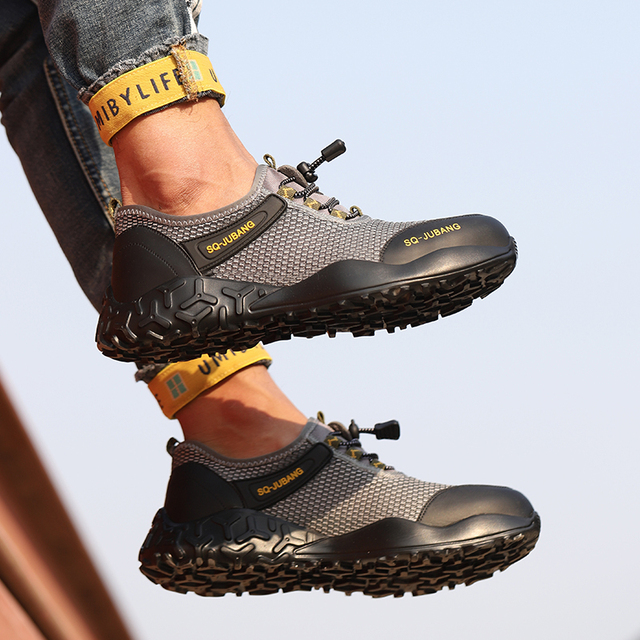Women/'s Work Safety Shoes Steel Toe Boots Indestructible Breathable Light Hiking
