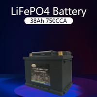 38AH 53520 Battery(LiFePO4)Lithium Phosphate ion Battery 12V 750CCA Size 230*175*190mm Auto Car LiFePo4 Automotive Battery