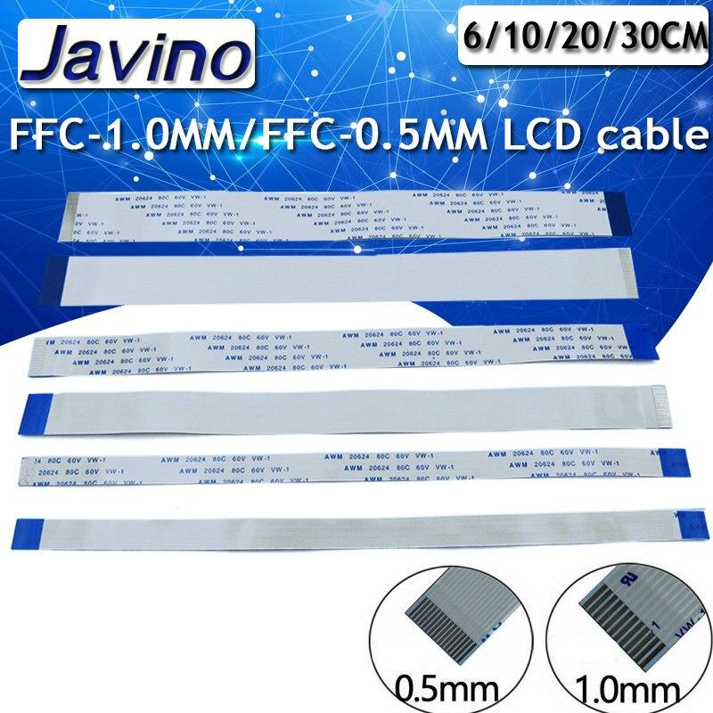 10 шт. многоразовый плоский гибкий кабель FFC FPC ЖК-кабель AWM 20624 80C 60 в VW-1 FFC-1.0MM/FPC-0.5MM ЖК-разъем плоский кабель