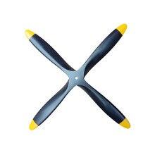 Hélice en bois à 4 lames, 13x8, 14x8, 15x8, 15x10, 16x8, 18x8, 18x10, 20x10, 20x12, 22x8, pour modèle d'avion à aile fixe RC