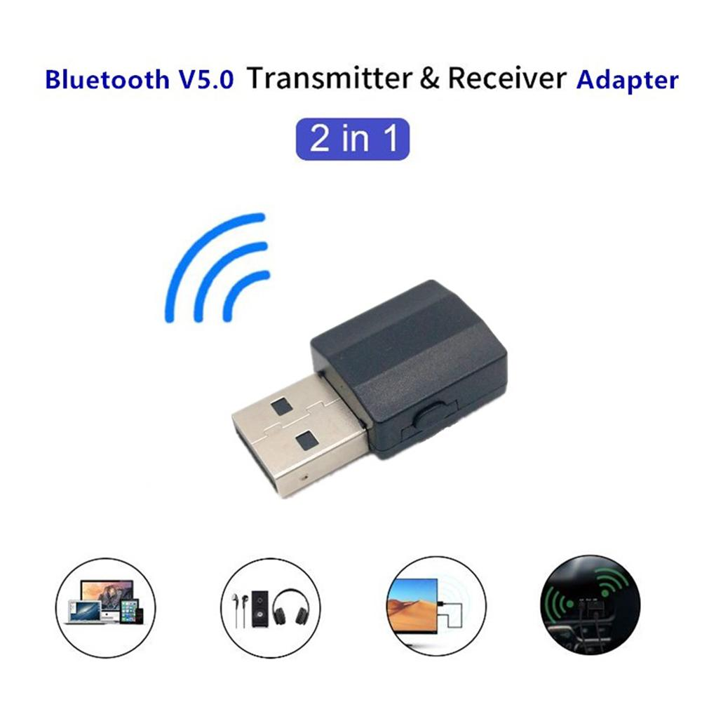 2019 Newest Audio 5.0 Bluetooth Transmitter/Receiver 2-In-1 Wireless Bluetooth Adapter for PC Windows Computer
