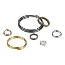 Незамкнутые соединительные кольца с двумя петлями Ювелирная