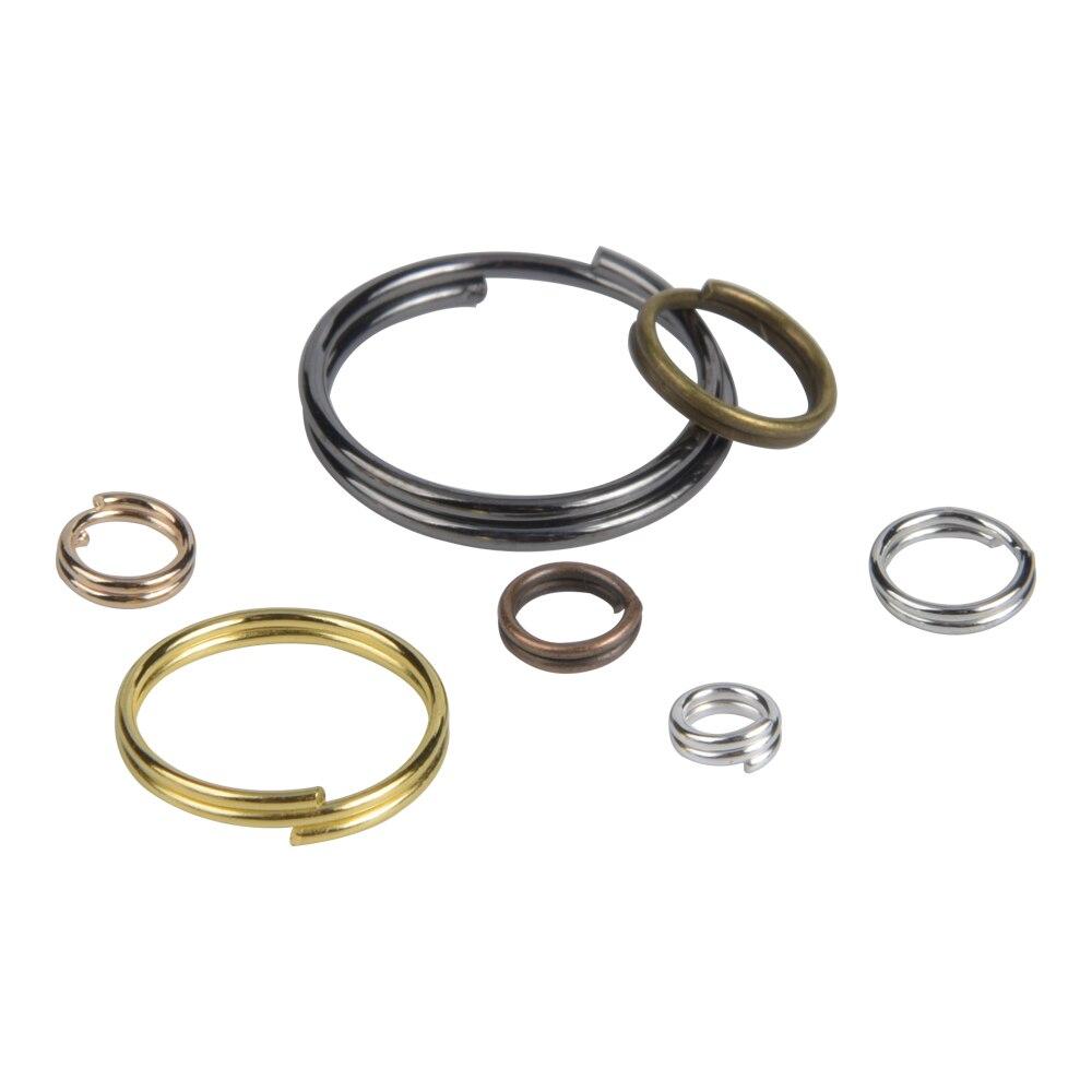 Незамкнутые соединительные кольца с двумя петлями, Ювелирная фурнитура «сделай сам», аксессуары, круглые двухслойные разъемные кольца, сое...