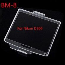 10 unids/lote BM 8 película de plástico duro Pantalla de monitor LCD Protector de cubierta para Nikon D300