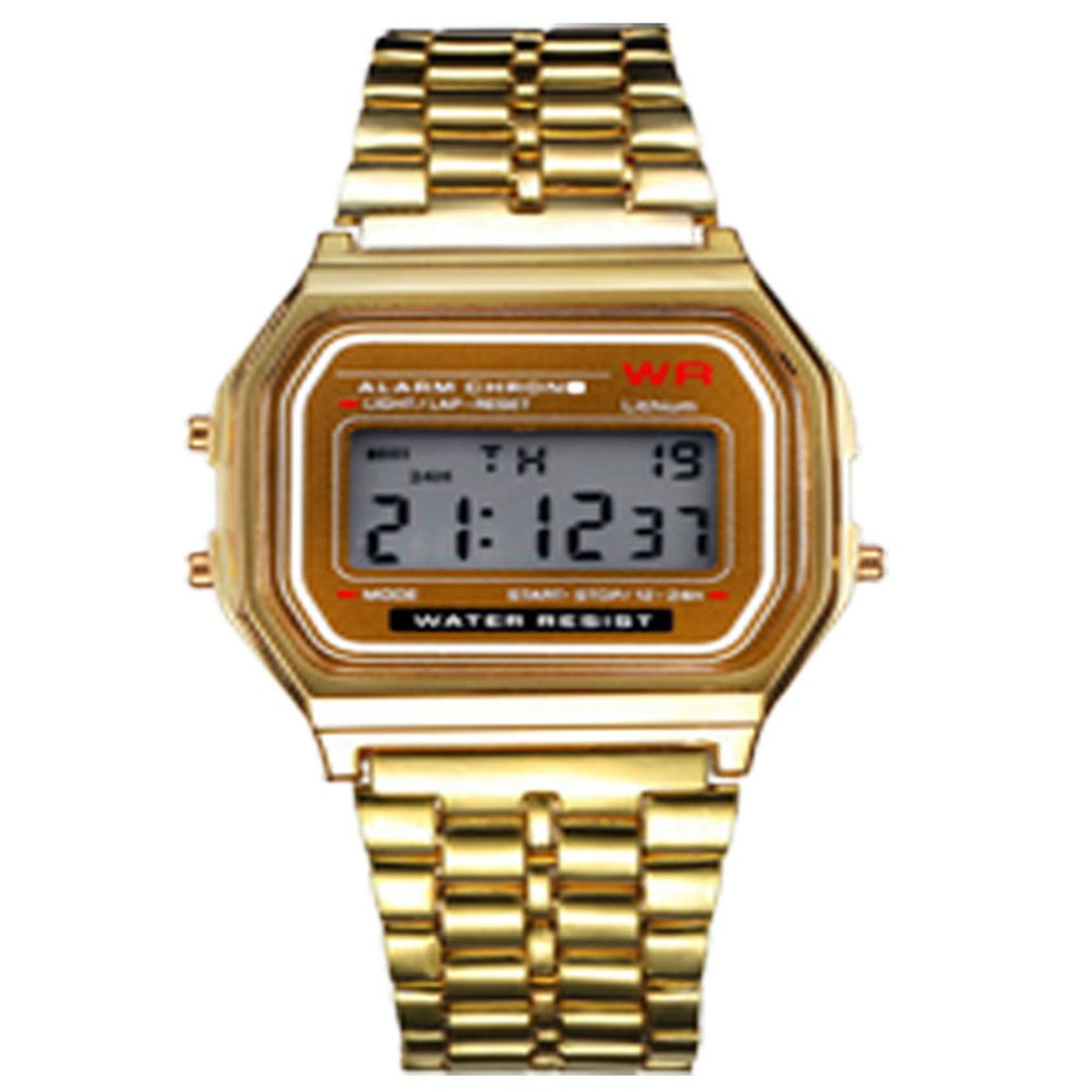 Led Electronic Watch Wr F91W Steel Belt A159 Harajuku Style Fashion Watch Multi-Function Led Table Watch