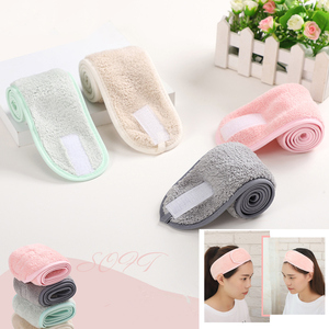 1Pc Coral Fleece Hair Bow Cross Headband For Wash Face Makeup Lady Bath Mask Cosmetic Hairband Girl Holder Rope Hair Accessories