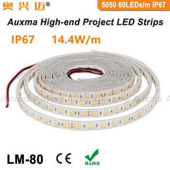 5050 60LEDs/m LED Strip,IP67,14.4W/m,DC12V/24V,300LEDs/Reel,5meter/Reel,Waterproof for Indoor & Outdoor Building Decoration - Category 🛒 Lights & Lighting