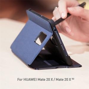 Image 3 - Smart Window View Stand Flip Case Cover Met Pen Houder Voor Huawei Mate 20 X/Mate 20X 5G mobiele Telefoons