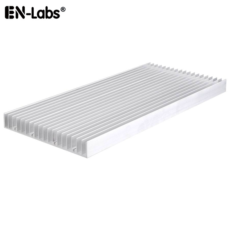 Aluminum Heat Sink <font><b>Heatsink</b></font> for <font><b>LED</b></font> Light 8 x 3W / 20 x <font><b>1W</b></font>,Radiator Cooler Fin for High Power Amplifier IC Chip 140x20x300/150mm image