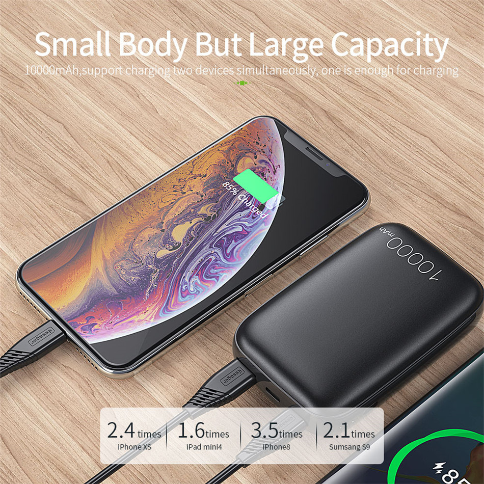 Essager 10000mAh Mini Power Bank 10000 Quick Charge 3.0 Powerbank For iPhone 11 Pro Max USB PD Portable External Battery Charger 9
