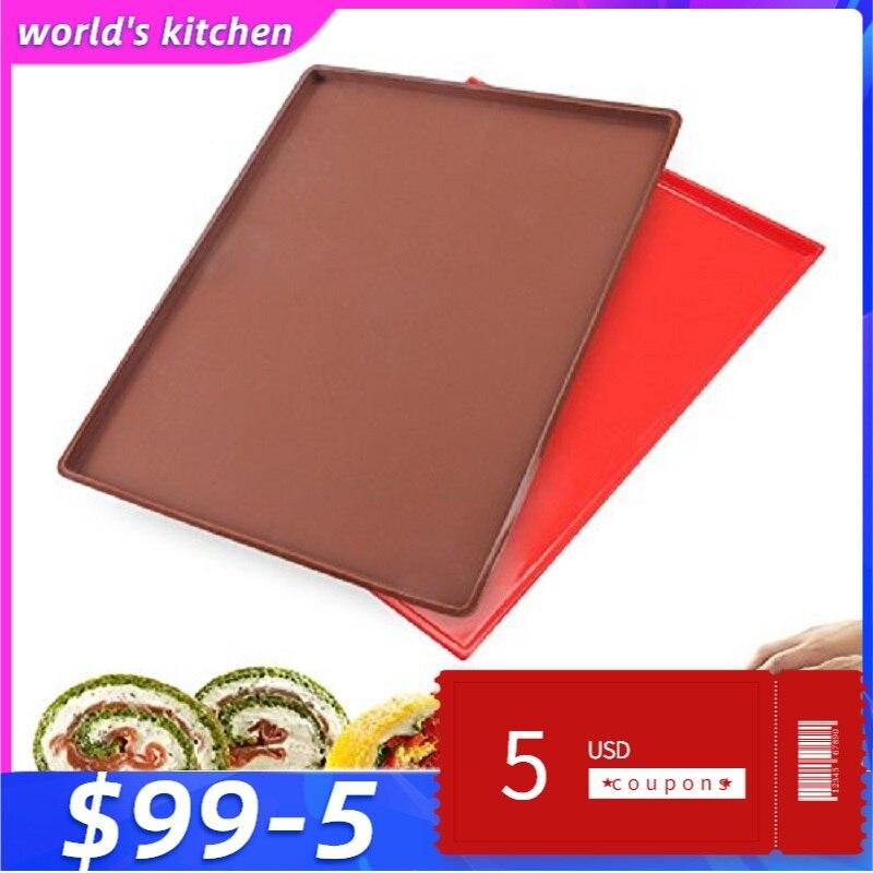 Антипригарный силиконовый коврик для теста, швейцарский рулон, лист для выпечки, раскатки торта, печенья, макарон, инструменты для выпечки|dough mat|baking sheetbaking mat | АлиЭкспресс