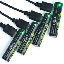 1.5v usb aaa bateria de íon de lítio 1100mwh 100% capacidade de polímero de lítio usb bateria de lítio recarregável