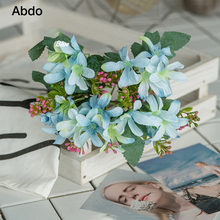 1Pcs Vintage Artificial Daffodil Flower Bouquet 28cm Silk Flowers for Home Decoration  Thanksgiving April Fools Day Garden