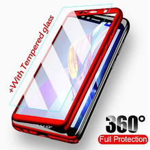 360 degrees Full Body Cover For Huawei Y5 Y6 Y7 Prime 2019 With Glass Luxury Protective Hard Case