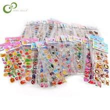 50 pçs/lote frete grátis marca de moda crianças brinquedos dos desenhos animados 3d adesivos crianças meninas meninos pvc adesivos bolha gyh