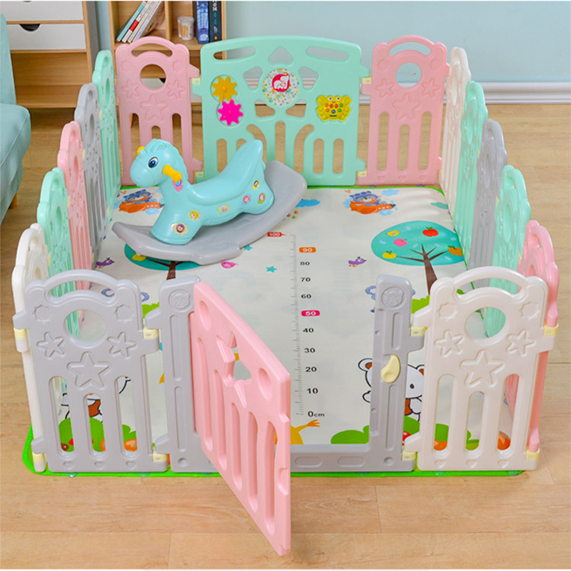 Children's Play Rail Plastic Fence Multifunctional Baby Toddler Bar Free Combination Safety Fence Kids Indoor Playground