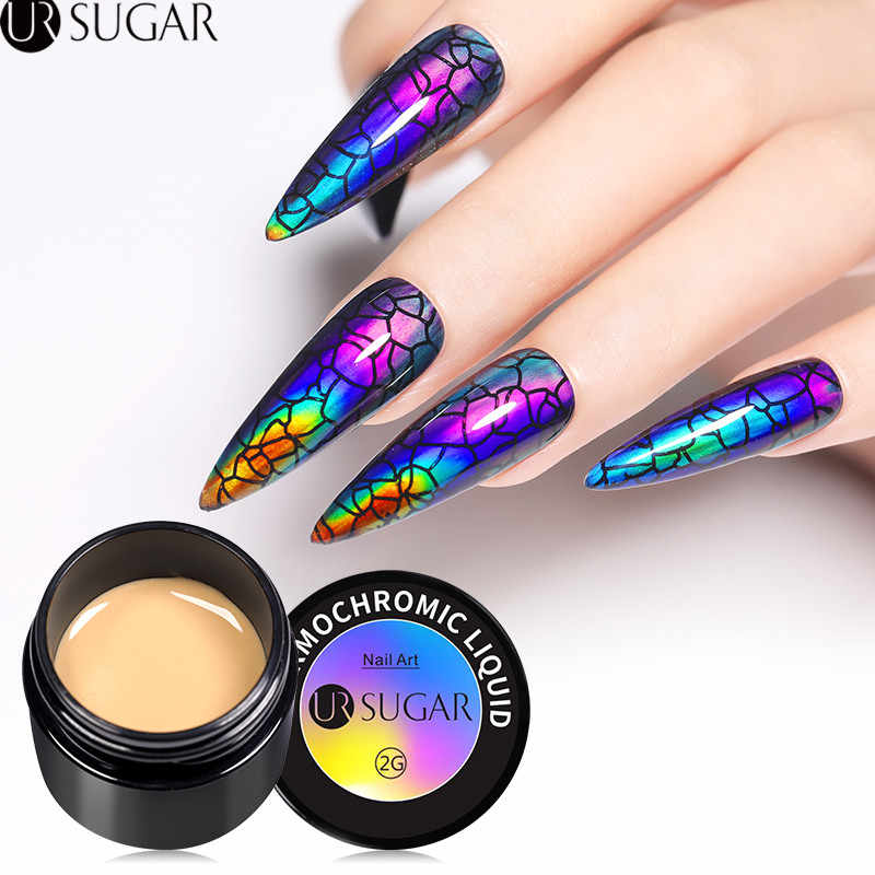 UR Gula Thermochromic Cairan Neon Aurora Kuku Warna Berubah Gel Nail Polish 2G Rendam Off Uv Gel Varnish Semi permanen Gel