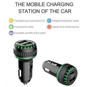 Image 5 - Swalle Car Charger 36W Dual USB 3.0 quick Charging car phone charge PD + QC 3.0 charger usb  C phones super mini charger