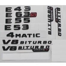 цена на Gloss Black Letters for Mercedes Benz W212 W213 S213 E43 E53 E55 E63 E43s E63s AMG S Emblem V8 BITURBO 4MATIC 4MATIC+ Emblems